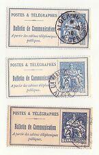3 Timbres Téléphone N°24 : Postes & Télégraphes Oblitération ALGER (Nuances)