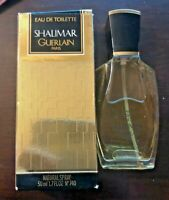 SHALIMAR GUERLAIN EAU DE TOILETTE 50 ML 1.7 FL. OZ. VINTAGE SPRAY 95% FULL