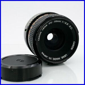 CANON 35mm f3.5 S FD mount vintage obiettivo lente tele portrait manual lens 80s