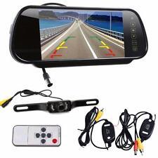 "7"" LCD Mirror Monitor+Wireless Car Reverse Rear View Backup Camera Night Vision"