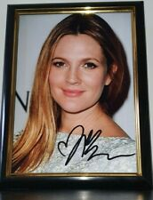 DREW BARRYMORE  - HAND SIGNED PHOTO WITH COA - 8 x 10 PHOTO - AUTHENTIC FRAMED