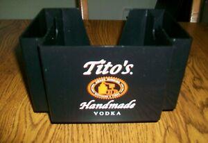 Tito's Handmade Vodka Plastic  Bar Caddy / Napkin Holder   Never Used