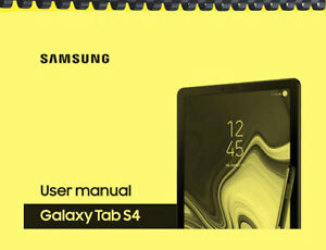 Samsung Galaxy Tab S4 Tablet OWNER'S USER MANUAL