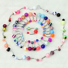 Bar Acrylic Ball Dangle Body-Piercing Jewelry 50x Women Navel Belly Button Rings