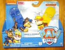 PAW PATROL WINTER RESCUE EXCLUSIVE SNOW PUPS CHASE & RUBBLE WITH SNOW BOARDS