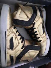 Supra muska Goldies mens shoes limited edition 11 12 hightop skate shoes GOLD