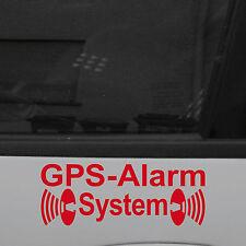 2 GPS Alarm System Aufkleber Tattoo Folie f. Außenseite Auto Haus Fenster Rahmen