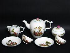 Unterweißbach Kaffee Tee Dejeuner Tete a Tete feinster Lupenmalaerei um 1950