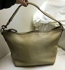 "COACH ""Sarah"" Ivory Pebbled Leather Hobo Bag Purse F13094 MSRP $395"
