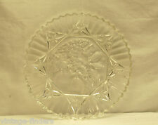 Vintage Carnival Clear Fruit Serving Platter Dish by Indiana Glass Serrated Edge