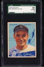 1934 Goudey #63 Minter Hayes White Sox SGC 80 Ex/Nm 6