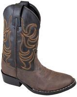 Smoky Mountain Kids Boy Monterey Western Cowboy Boots Stitch Brown/Black