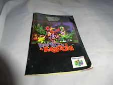 Nintendo N64 Banjo Kazooie instructions only.