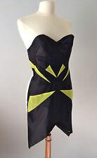 GUiSHEM Structured Geometric Panel Silk cocktail party designer Dress S