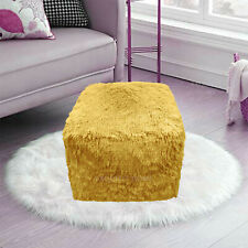 OCHRE Cube Bean Bag Foot Rest Stool Pouf Living Room Footstool Teddy Chunky Pouf