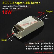 LED Conductor Adaptador AC 110V 220V 230Va 12V 1A Transformador Fuente L