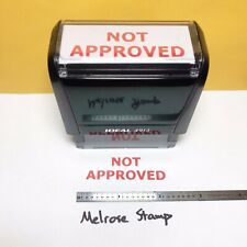 New Listingnot Approved Rubber Stamp Red Ink Self Inking Ideal 4913