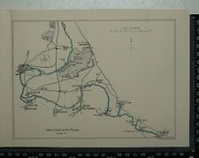 1925 - Vintage Map of River Thames between Abingdon and Benson - Radley, Burcot