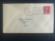1932 US Navy Post Office Shanghai China Cover to USA USS Barker
