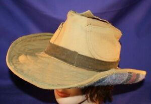 Carhartt Cowboy Hat size XXL or 7-5/8 handmade tan lined formable duck fedora