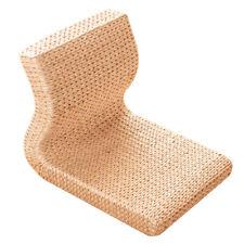 Handmade Straw&Rattan Japanese Floor Legless Chair Tatami Zaisu Backrest Chair