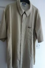 'JACK WOLFSKIN' MEN'S VINTAGE SHORT SLEEVE SHIRT, BEIGE SIZE 40/42 VERY GOOD !