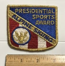 Alpine Skiing Presidential Sports Award Red White Blue Embroidered Patch