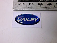 Bailey tiny oval resin badge caravan or motorhome for cosmetic cover up BOB7