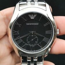 New Old Stock EMPORIO ARMANI AR8028 Black Face Stainless Steel Quartz Men Watch