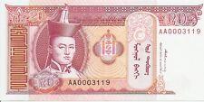 Mongolia: 20 Tugrik ND (1993) UNC