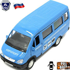 Diecast Vehicles Scale 1:36 GAZ 3221 Gazel Russian Airport Toy Cars