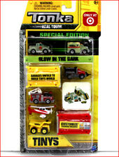 Tonka Tinys Glow-In-Dark Special Edition Plane Fire Truck -6 Vehicles 107🌟NEW🌟