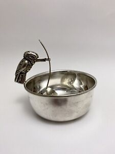 Vintage Hecworth Silver Plated Kookaburra Sugar Bowl with Spoon - Australiana
