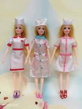 """Fashion 6P (3 sets of doctor clothes + 3 pairs of shoes) for 11.5"""" Doll Clothes"""