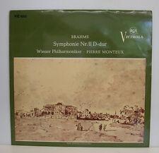 """BRAHMS SYMPHONIE NR. II PIERRE MONTEUX WIENER PHILHARMONIKER 12"""" LP (e428)"""