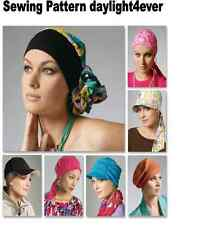7 Head Wrap Chemo Wear Hat Scarf McCall's Sewing Pattern 6521 New Headband #u