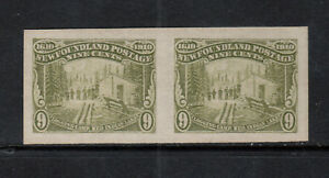 Newfoundland #100a Extra Fine Mint Imperf Pair Unused (No Gum) As Issued