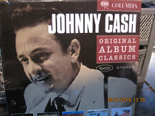 CD JOHNNY CASH ORIGINAL ALBUM CLASSICS 5CD SET   DISC VGC