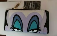 New Loungefly x Disney The Little Mermaid Ursula Zip Around Wallet Free Shipping