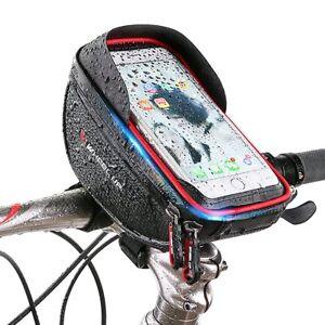 Waterproof 6'' Mobile Phone Bicycle Bike Cycling Front Frame Tube Handlebar Bag