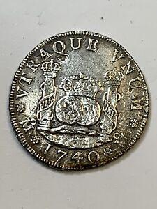1740 MF Mexico City Philip V Pillar 4 Reales Silver Coin