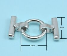 Platinum Plated Silver Tone Ring 3-strand Heavy Duty Strong Clip & Lock Clasp