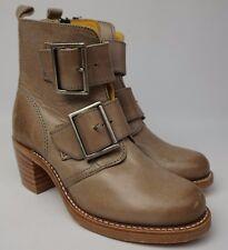 Frye Women's Grey Sabrina Double Buckle Short Boots Booties Size 5.5 M