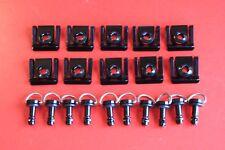 DZUS Alu noir 1/4 de tour carénage poly piste carbone vis quart visses clips
