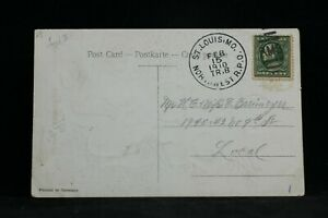 RPO: St. Louis, Mo. Northwest 1910 Greeting Postcard, Missouri Trolley