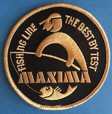 Vintage 1970's Maxima Fishing Test Line Sew On Hat Jacket Patch Crest A