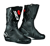 SIDI FUSION BLACK LADIES MOTORCYCLE SPORTS BOOTS - Limited Sale Offer