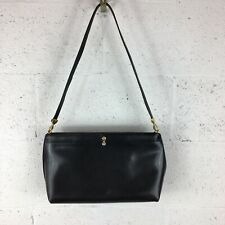 Koret Vintage Black Purse with Little Coin Purse Attached, Genuine Leather