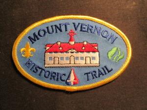 Mount Vernon Historic Trail Patch         c91