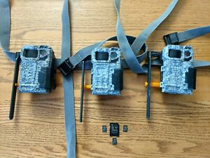 SPYPOINT LINK-MICRO AT&T & Verizon network ( lot of 3 w/ SD cards)